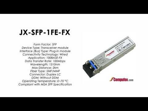 JX-SFP-1FE-FX    Juniper Compatible 100BASE-FX SFP 1310nm 2km MMF