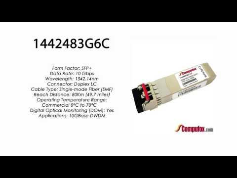 1442483G6C  |  Adtran Compatible 10GBase-DWDM 1542.14nm 80km SFP+