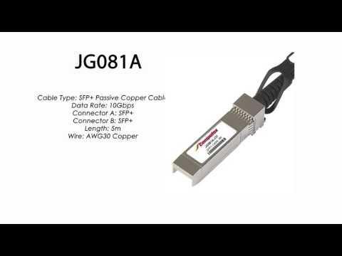 JG081A  |  HP Compatible  SFP+ Passive Copper Cable 5m