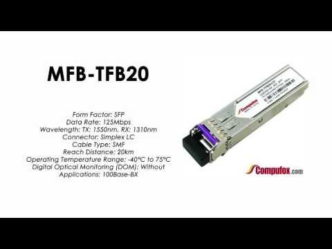 MFB-TFB20  |  Planet Compatible 100Base-BX Tx1550nm/Rx1310nm 20km SFP