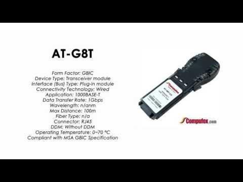 AT-G8T  |  Allied Telesis Compatible 1000BASE-T 100m RJ45 GBIC