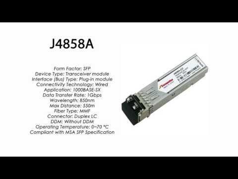 J4858A  |  HP Compatible 1000Base-SX 850nm 550m MMF SFP