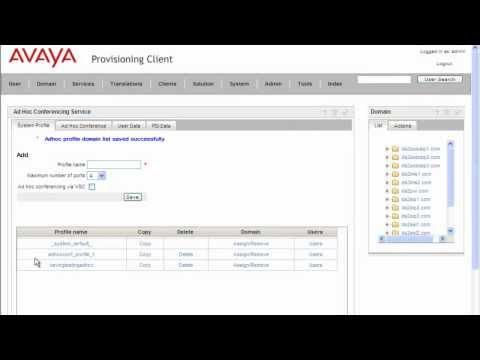 How To Configure Avaya AS5300 Ad Hoc Conferencing Service