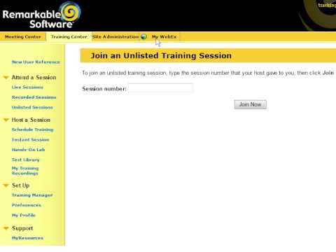 WebEx Training Center: Manage Registration