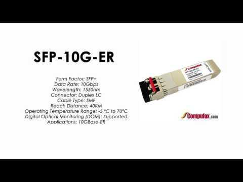 SFP-10G-ER  |  Alcatel Compatible 10GBase-ER 1550nm 40km SFP+