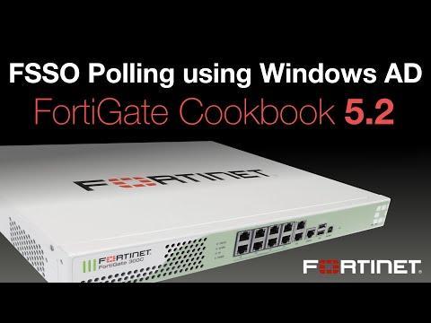 FortiGate Cookbook - FSSO Polling Using Windows AD (5.2)