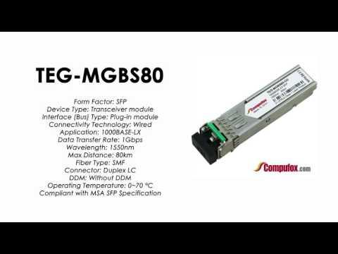 TEG-MGBS80  |  TRENDnet Compatible 1000BASE-ZX 1550nm 80km SFP