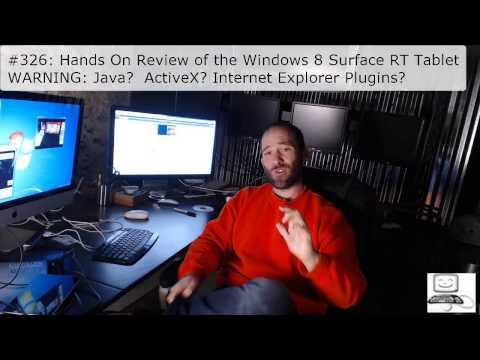 Episode #326: Hands On Review Of The Windows 8 Surface RT Tablet
