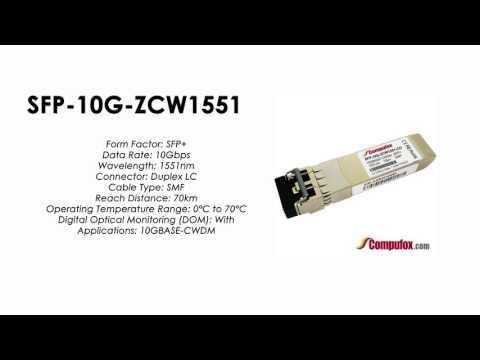 SFP-10G-ZCW1551  |  Huawei Compatible SFP+ 10GBASE-CWDM SMF 1551nm 70km