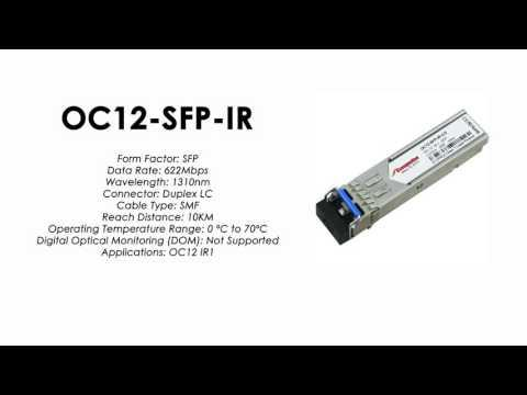 OC12-SFP-IR  |  Alcatel Compatible ATM-622Mbps 1310nm 10km SFP