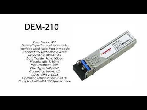 DEM-210  |  D-Link Compatible 100Base-FX SFP 1310nm 10km