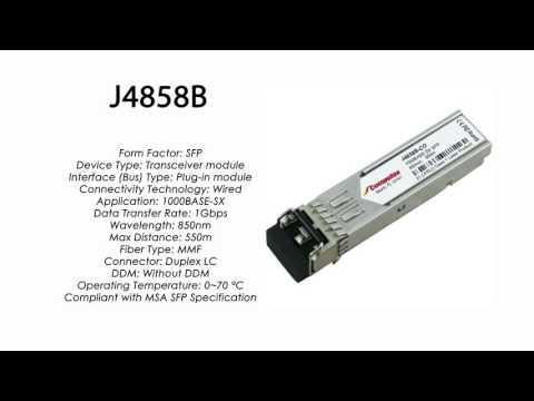J4858B  |  HP Compatible 1000Base-SX 850nm 550m MMF SFP
