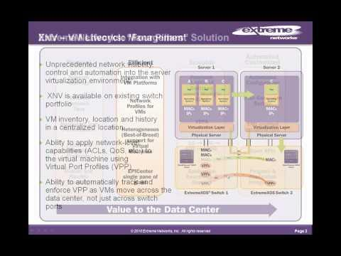 Extreme Networks XNV Part 1 - Virtualization Management