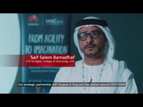 Customer Interview: Higher Colleges Of Technology At The Huawei Network Congress Middle East 2015