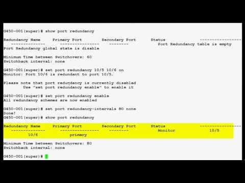 How To Configure Port Redundancy In Avaya Media Gateway G450
