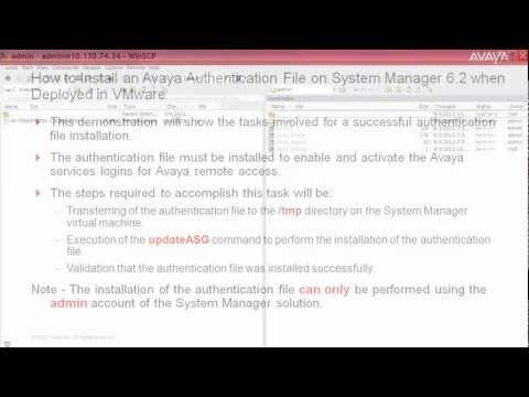 How To Install An AFS File On System Manager 6.2 Deployed In VMware