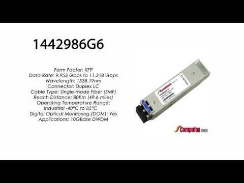 1442986G6  |  Adtran Compatible 11.3G DWDM XFP 1538.19nm 80km LC
