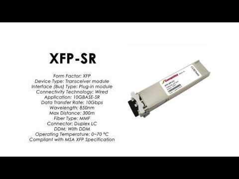 XFP-SR  |  ZyXEL Compatible 10GBase-SR XFP 850nm 300m MMF