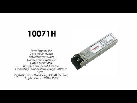 10071H  |  Extreme Networks Compatible 1000BASE-SX 850nm 550m Industiral (10-Pack)