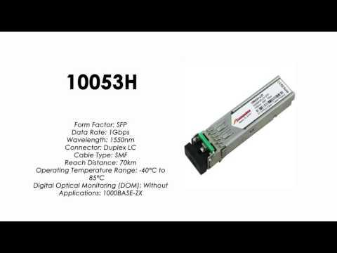 10053H  |  Extreme Networks Compatible 1000BASE-ZX SFP 1550nm 70km SMF Industrial