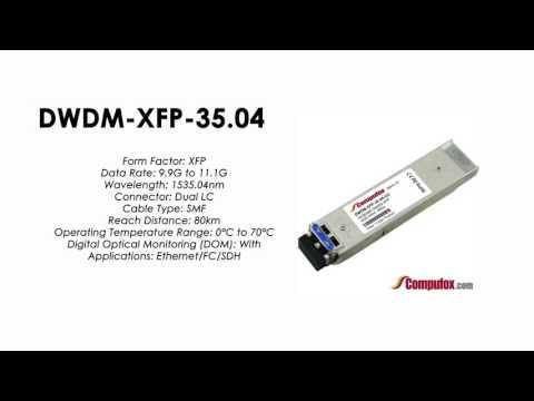 DWDM-XFP-35.04  |  Cisco Compatible 10GBASE-DWDM XFP 1535.04nm 80km