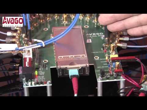 Avago 100G CFP2 SR10 Optical Transceiver Demonstration