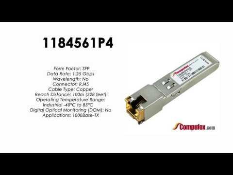 1184561P4  |  Adtran Compatible 1.25Gbps RJ45 100m SFP