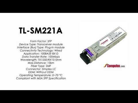 TL-SM221A  |  TP-Link Compatible 100Base-BX Tx1550nm/Rx1310nm 15km SFP