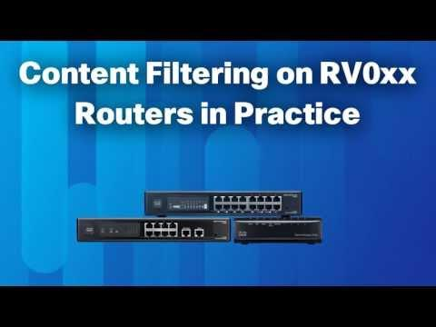 Content Filtering  Example  On RV0xx Routers