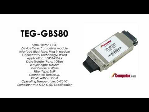 TEG-GBS80  |  TRENDnet Compatible 1000Base-LX 1550nm 80km GBIC