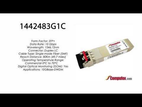 1442483G1C  |  Adtran Compatible 10GBase-DWDM 1546.12nm 80km SFP+