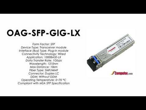 OAG-SFP-GIG-LX     Alcatel Compatible 1000Base-LX 1310nm 10km SFP