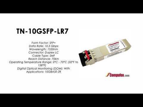 TN-10GSFP-LR7     Transition Compatible 10GBASE-ZR SFP+, 1550nm SMF 70km