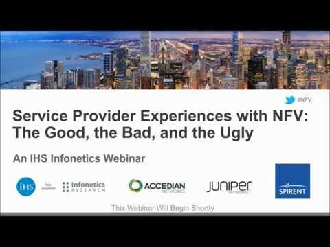 Spirent: Service Provider Experience With NFV