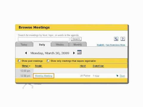 WebEx Tier 1 Support: Scheduling Issues