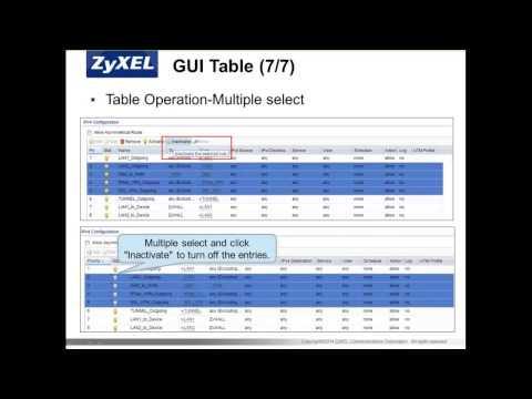 ZCNE Security L1 - ZyWALL USG Basics Module