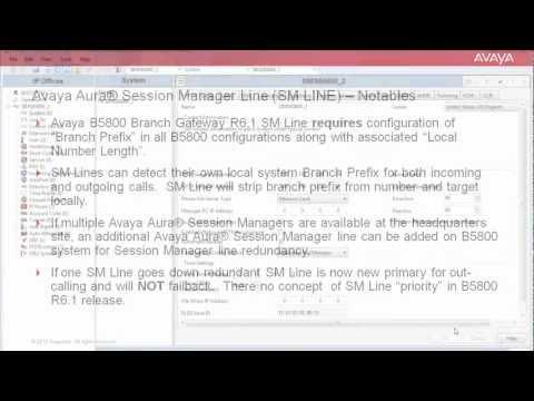 How To Configure An Avaya Aura Session Manager Line (SM LINE) On The Avaya B5800 Branch Gateway R6.1