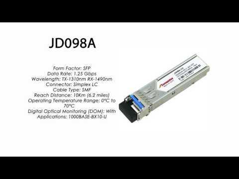 JD098A     HP Compatible 1000Base-BXU Tx1310nm/Rx1490nm 10km