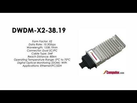 DWDM-X2-38.19  |  Cisco Compatible 10GBASE-DWDM X2 1538.19nm 80km