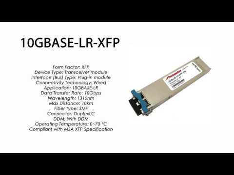 10GBASE-LR-XFP  |  Enterasys Compatible 10GBASE-LR XFP 1310nm 10km SMF