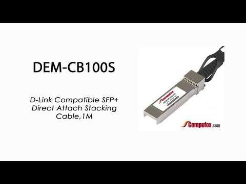 DEM-CB100S  |  D-Link Compatible SFP+ Direct Attach Stacking Cable 1M