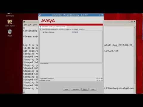 How To Perform An Avaya Secure Access Link Gateway Service Pack Attended Installation