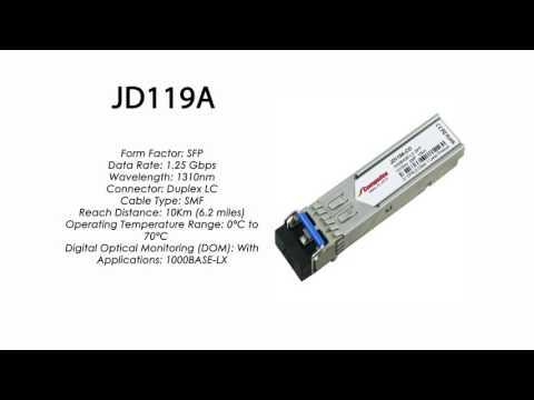 JD119A | HP Compatible 1000Base-LX 1310nm 10km SFP