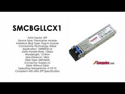 SMCBGLLCX1  |  SMC Compatible 1000BASE-LX 1310nm 10km SFP