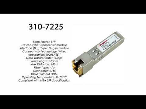 310-7225     Dell Compatible 1000BASE-T SFP RJ-45 100m