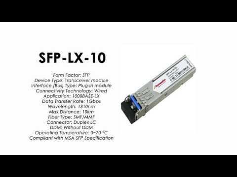 SFP-LX-10     ZyXEL Compatible 1000Base-LX SFP 1310nm 10km SMF