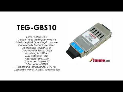 TEG-GBS10  |  TRENDnet Compatible 1000Base-SX 1310nm 10km GBIC