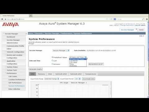 How To Check System Performance Of Avaya Session Manager