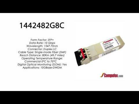 1442482G8C  |  Adtran Compatible 10GBase-DWDM 1547.72nm 80km SFP+