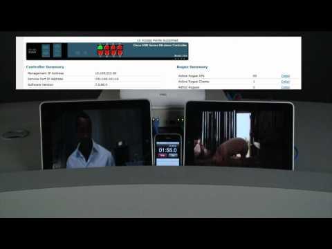 Aruba Vs. Cisco -- Wireless Video Delivery In Noisy RF Environments